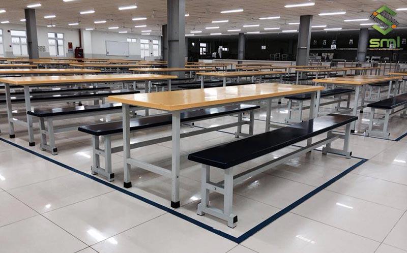 Thi công Canteen nhà xưởng cần chú ý tới sắp xếp từng khu để di chuyển, lau dọn dễ dàng hơn