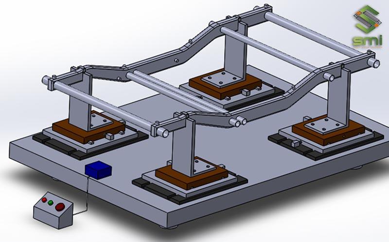 Bản thiết kế 3D đồ jJig gá hàn