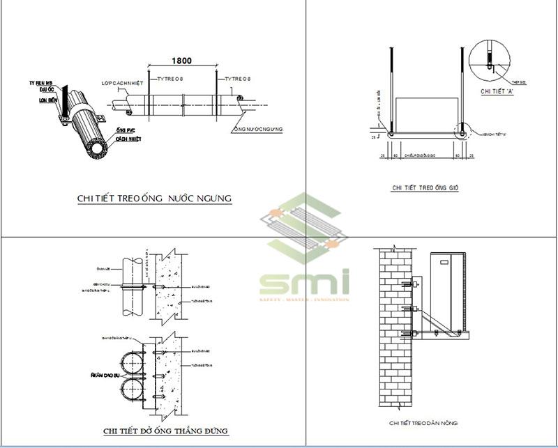 Bản vẽ chi tiết các thiết bị trong hệ thống thông gió