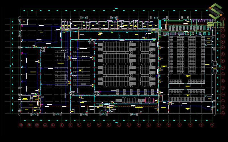 Bản vẽ hệ thống điện nhà xưởng là một phần không thể thiếu để thi công hệ thống