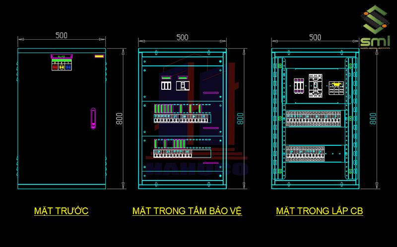 Bản vẽ tủ điện nhà xưởng càng chi tiết thì sẽ càng dễ dàng trong việc lắp đặt