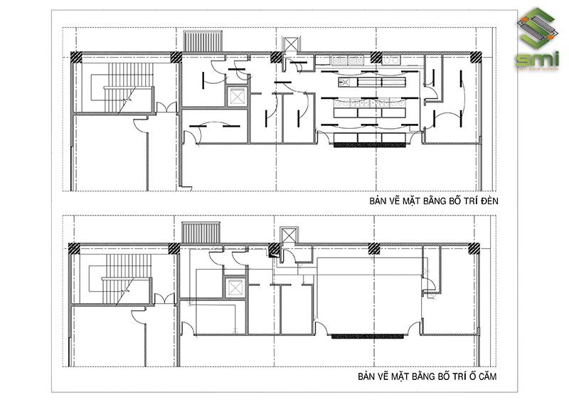 Bản vẽ cải tạo hệ thống điện bếp ăn nhà xưởng KCN Thăng Long II