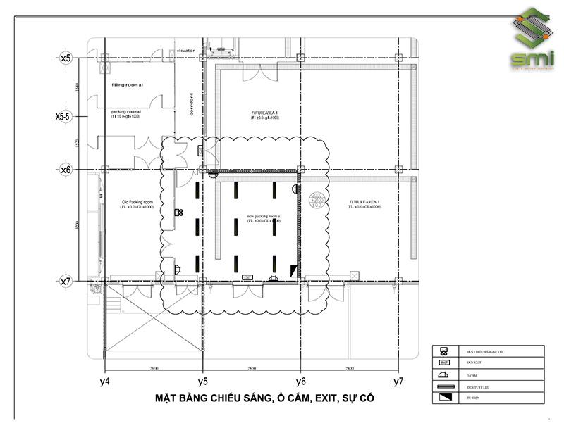 Bản vẽ cải tạo hệ thống điện nhà xưởng, nhà máy KCN Thăng Long II