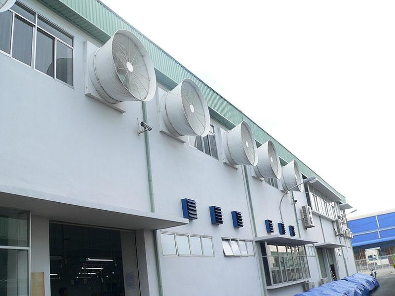 Thông gió công nghiệp cục bộ được dùng nhiều cho nhà máy sản xuất cơ khí