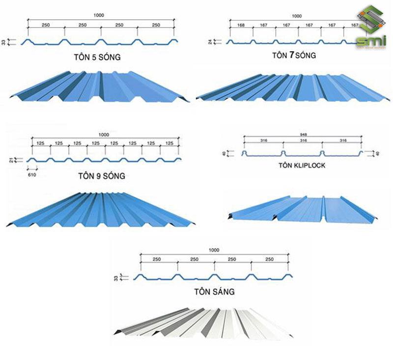 5 loại mái tôn phổ biến được sử dụng cho nhà xưởng