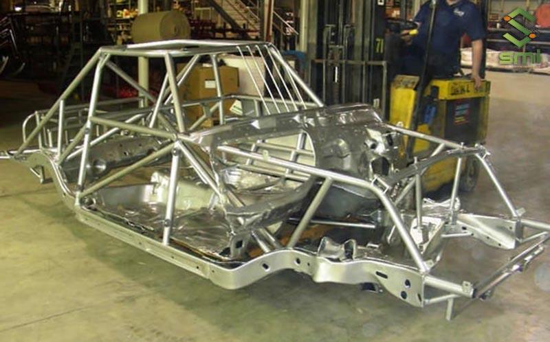 Khung ô tô được gia công cơ khí sơn tĩnh điện để gia tăng độ bền