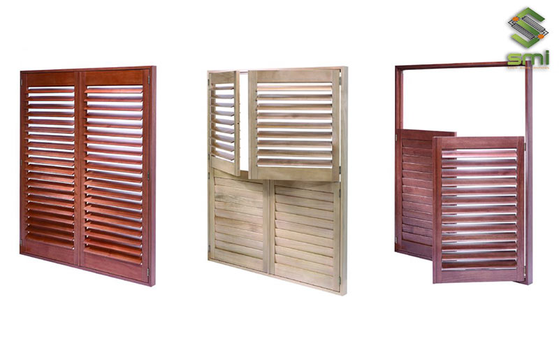 Các loại cửa chớp gỗ sẽ đem lại vẻ đẹp cho công trình sử dụng