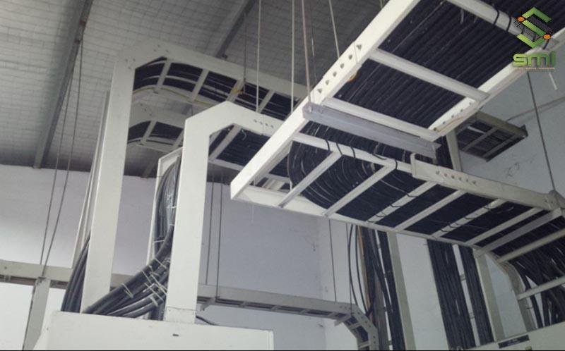Thi công hệ thống thang máng cáp điện trong nhà xưởng