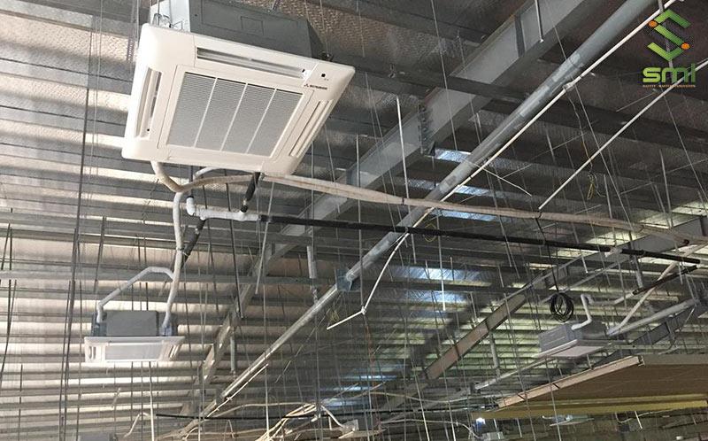 Hệ thống điều hòa để làm mát trong nhà xưởng công nghiệp