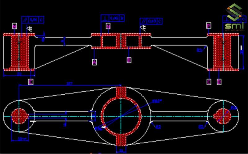Đồ gá gia công lỗ phi 16 bên phải chi tiết càng số C1