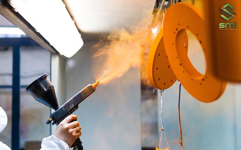 Sản phẩm gia công cơ khí sơn tĩnh điện