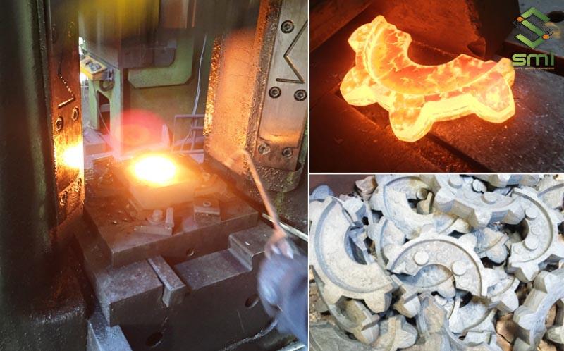 Gia công cơ khí không phôi bằng phương pháp dập nóng tạo ra chi tiết máy
