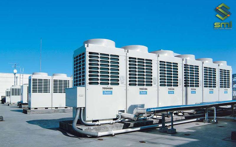 Hệ thống cục nóng sẽ được bố trí ngoài trời để đảm bảo việc hoạt động của điều hòa hiệu quả nhất
