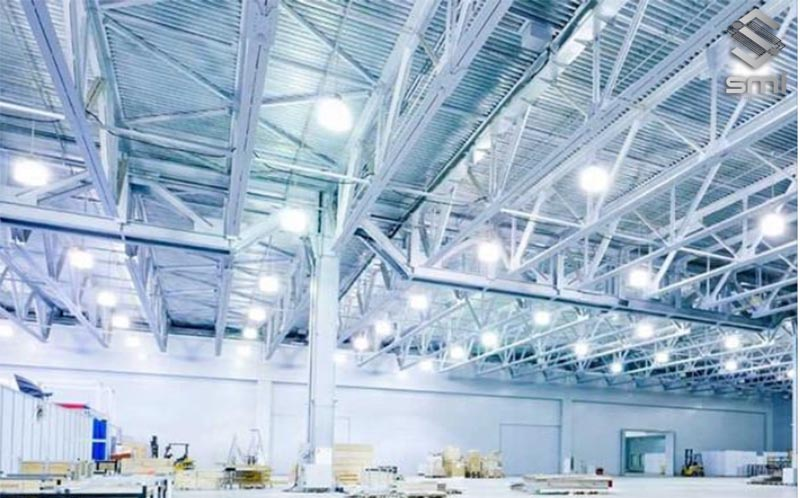 Hệ thống điện chiếu sáng nhà xưởng đáp ứng được các tiêu chuẩn nghiêm ngặt của nhà nước