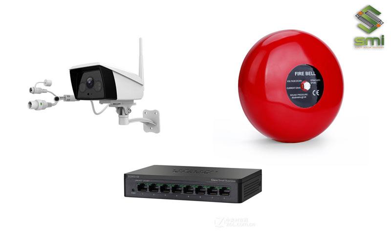 Hệ thống điện nhẹ trong nhà xưởng bao gồm hệ thống mạng, Camera, chuông báo...