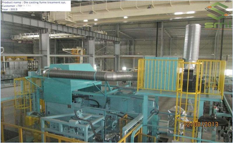 Hệ thống hút khói cho xưởng đúc góp phần mang lại môi trường an toàn và sạch hơn