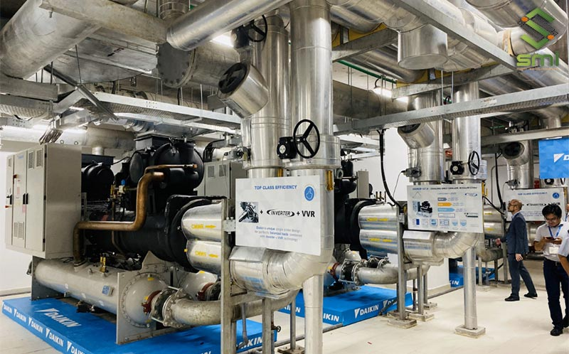 Hệ thống điều hòa làm mát nhà xưởng bằng Chiller