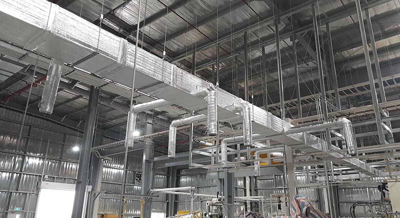 Thi công lắp đặt hệ thống thông gió nhà xưởng chất lượng và hoạt động bền bỉ cùng Sumitech