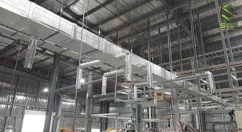 Hệ thống thông gió nhà xưởng thực hiện bởi công ty SUMITECH