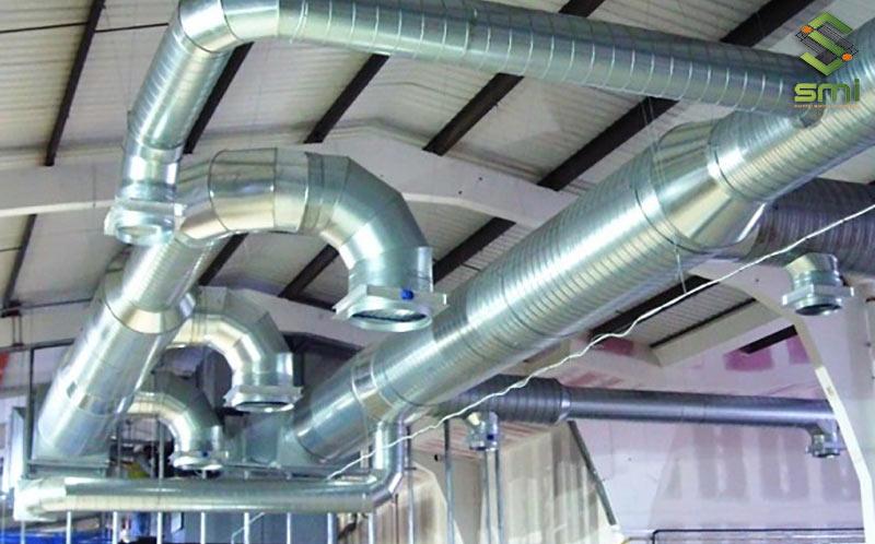 Hệ thống làm mát bằng kênh dẫn gió giúp giảm nhiệt độ nhà xưởng hiệu quả, nhanh chóng