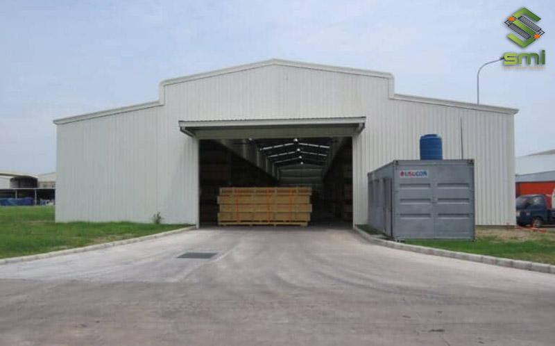 Nhà kho chứa hàng - Một công trình đảm bảo cả chất lượng và tính thẩm mỹ do SUMITECH thực hiện