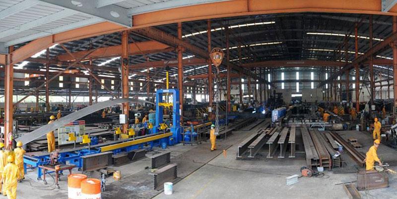 Khung vực xưởng sản xuất của Công ty Xây dựng Việt Mỹ