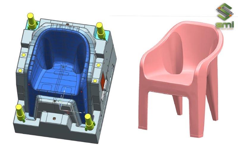 Khuôn ép gia công cơ khí để sản xuất ghế nhựa