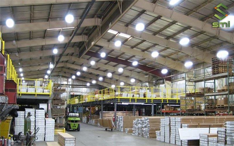 Hệ thống điện chiếu sáng nhà xưởng giúp cung cấp đủ ánh sáng cho hoạt động sản xuất
