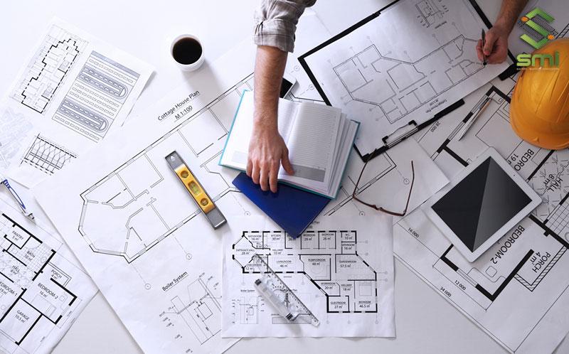 Lên bản vẽ thiết kế sơ bộ cho toàn bộ công trình nhà xưởng công nghiệp