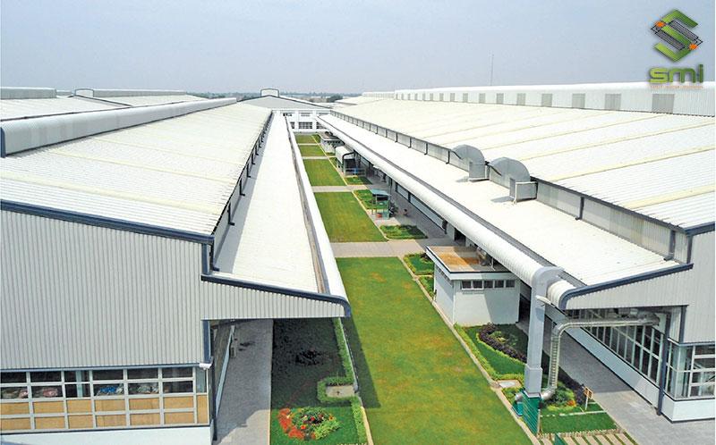 Mái nhà xưởng cần được thiết kế chính xác theo quy chuẩn của nhà nước