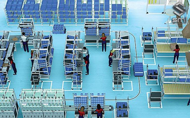 Tối ưu hóa mặt bằng nhà máy bằng cách bố trí theo quy trình sản xuất của doanh nghiệp
