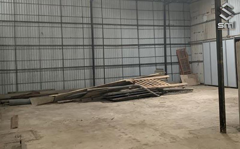Nhà xưởng nhỏ có quy mô 280m2 phù hợp làm kho chứa, cơ sản xuất cơ khí, gỗ...