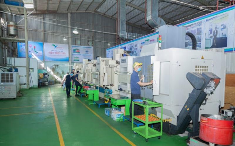 Nhà xưởng công ty gia công cơ khí Việt Nhật Tân
