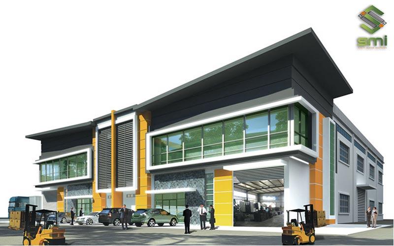 Xây dựng nhà xưởng 2 tầng giúp doanh nghiệp tận dụng được tối đa quỹ đất hạn hẹp của mình
