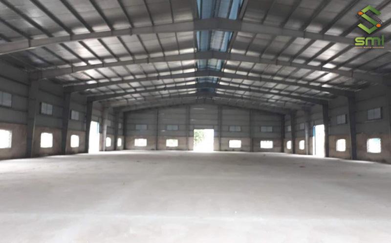 Nhà xưởng 500㎡ thường sẽ có chiều cao dưới 7.5m