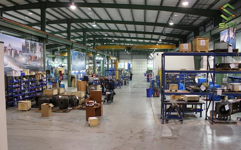 Diện tích 600m2 đủ để kết hợp cả kho và khu vực sản xuất làm một