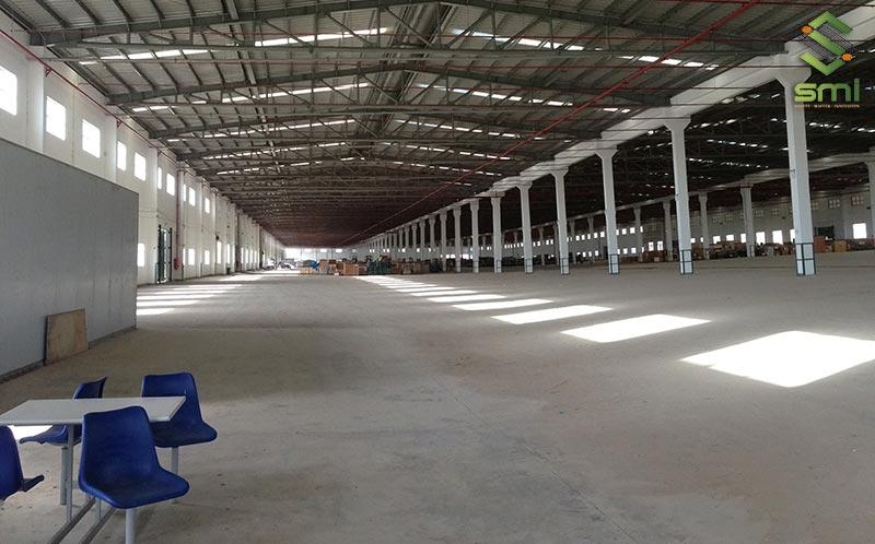 Nhà xưởng có diện tích càng lớn (trên 10.000m2) thì mức giá thi công càng ưu đãi