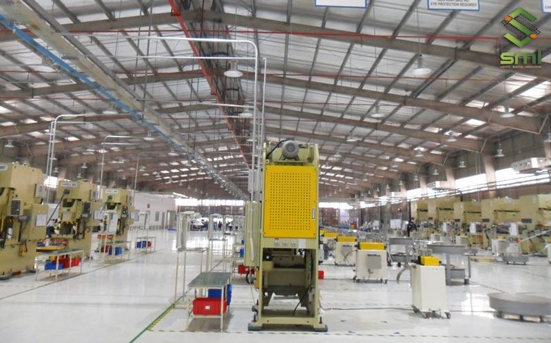 Việc tối ưu hóa mặt bằng nhà xưởng sẽ làm giảm thiểu ngược dòng nguyên vật liệu tối đa