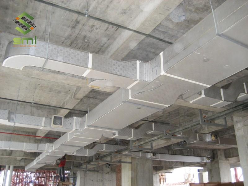 Hệ thống ống thông gió nhà xưởng dùng ống gió vuông