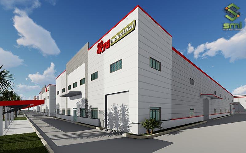 Nhà xưởng nhiều tầng giúp tiết kiệm diện tích và dễ tạo mỹ quan kiến trúc