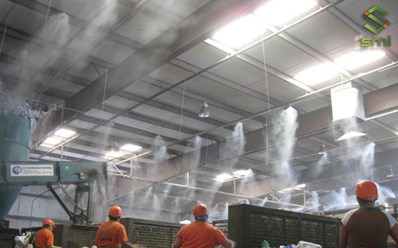 Cách làm mát nhà xưởng bằng phun sương