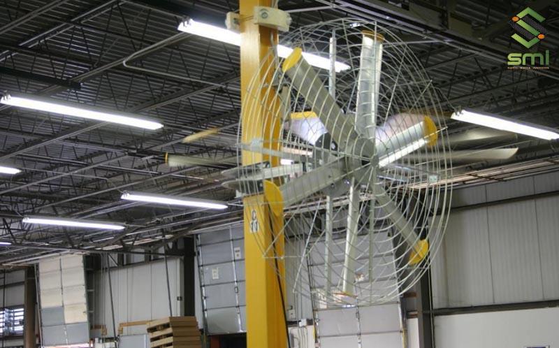 Cách làm mát nhà xưởng bằng quạt treo tường công nghiệp