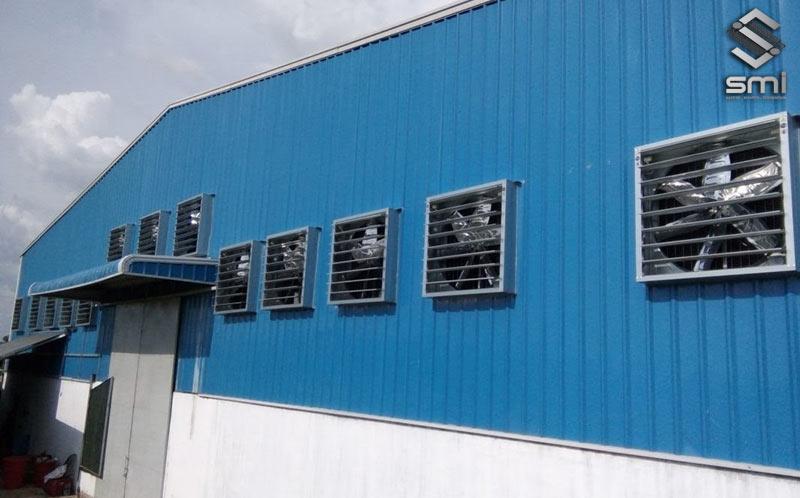 Sử dụng hệ thống quạt thông gió sẽ có hiệu quả mà mức chi phí đầu tư phải chăng