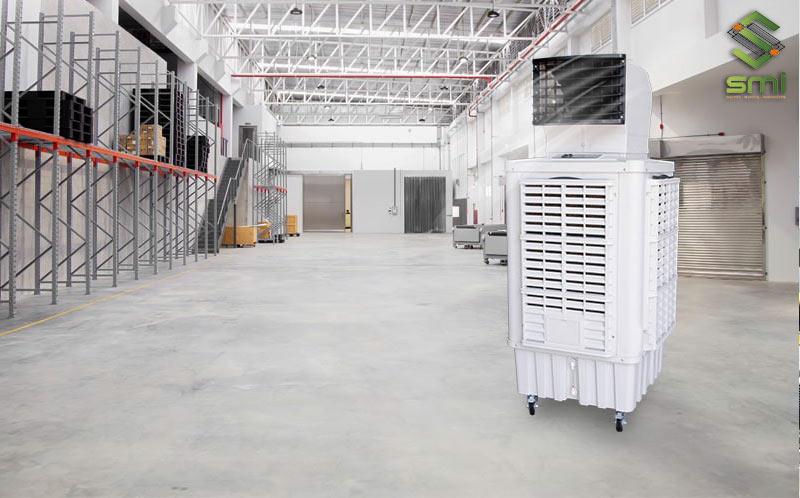 Quạt hơi nước công nghiệp sẽ phù hợp nhất khi làm mát tại những khu vực nhỏ trong nhà xưởng