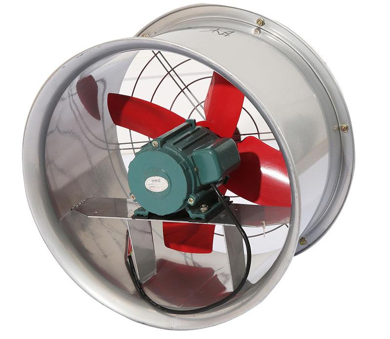 Quạt thông gió cho nhà xưởng hướng trục thường có dạng tròn với các cánh quay quanh một trục cố định