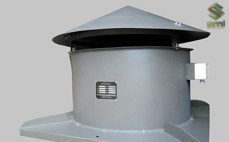 Quạt hút mái thông gió nhà xưởng cấu tạo đơn giản