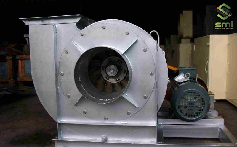 Quạt ly tâm dùng cho nhà xưởng sản xuất, chế tạo cơ khí