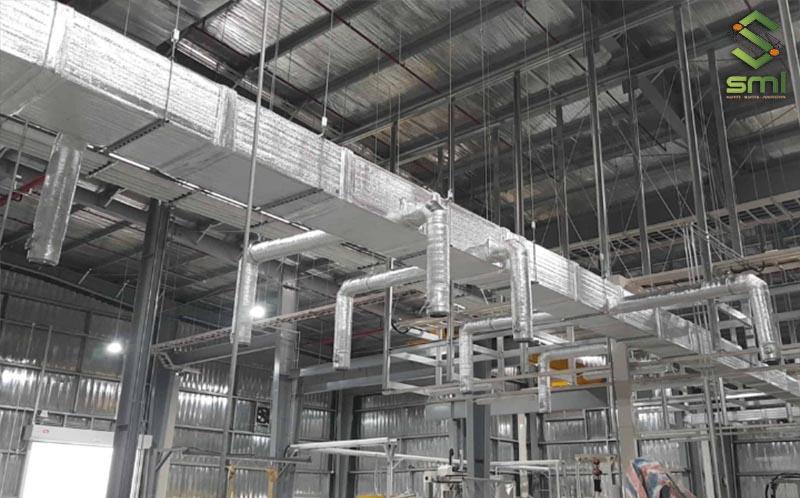 SUMITECH nhận thi công hệ thống thông gió nhà xưởng