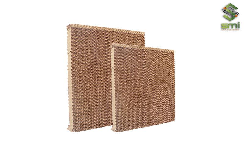 Tấm Cooling Pad được thiết kế dạng tổ ong giúp giữ nước và làm mát cho không khí vào trong nhà xưởng