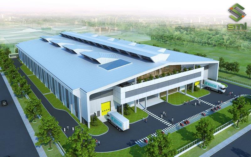 Nhà xưởng kết hợp văn phòng được ứng dụng cho đa dạng ngành như: may mặc cao cấp, linh kiện điện tử, sản xuất phụ tùng ô tô,...